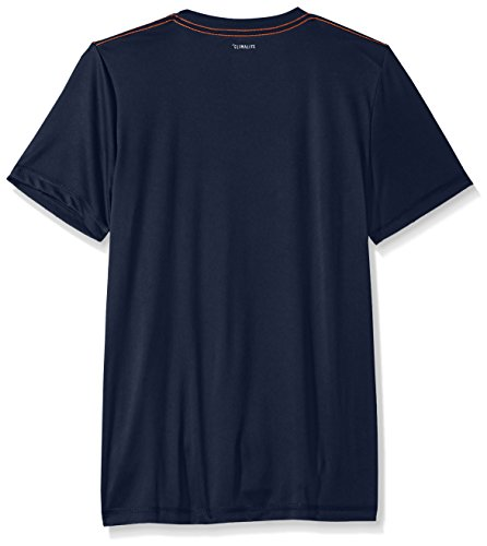 Large Product Image of adidas Boys' Big Short Sleeve Logo Tee Shirt, Collegiate Blue, M (10/12)