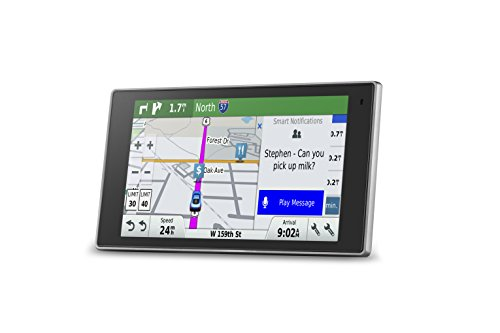 Garmin DriveLuxe 50 NA LMTHD GPS Navigator System with Lifetime Maps and Traffic, Smart Notifications, Voice Activation, Driver Alerts, and a Sleek Metal Design