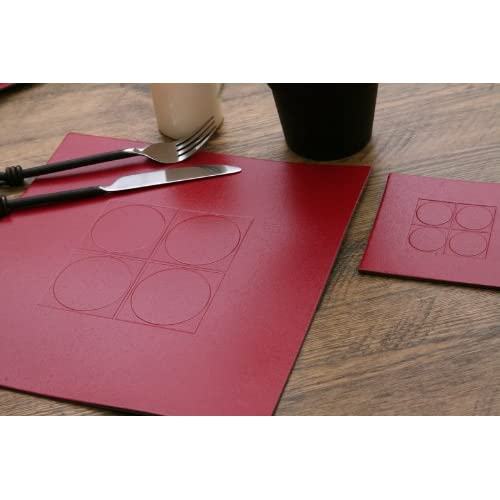 Leather Table Mats Amazon Co Uk