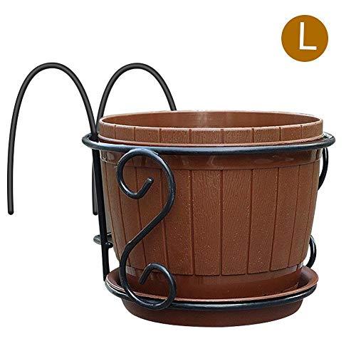 Sundlight Balcony Hanging Pot, European Iron Art Hanging Baskets Flower Pot Holder for Home Garden Patio Porch Fence by Sundlight