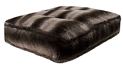 BESSIE AND BARNIE Frosted Glacier Extra Plush Faux Fur Luxury Sicilian Rectangle Pet/Dog Bed (Multiple Sizes) For Sale