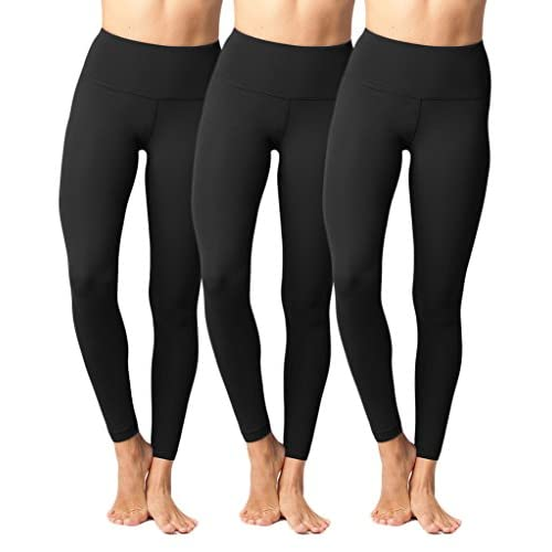 e48d88b38f774 Yogalicious High Waist Ultra Soft Lightweight Leggings - High Rise Yoga  Pants - Black 3 Pack