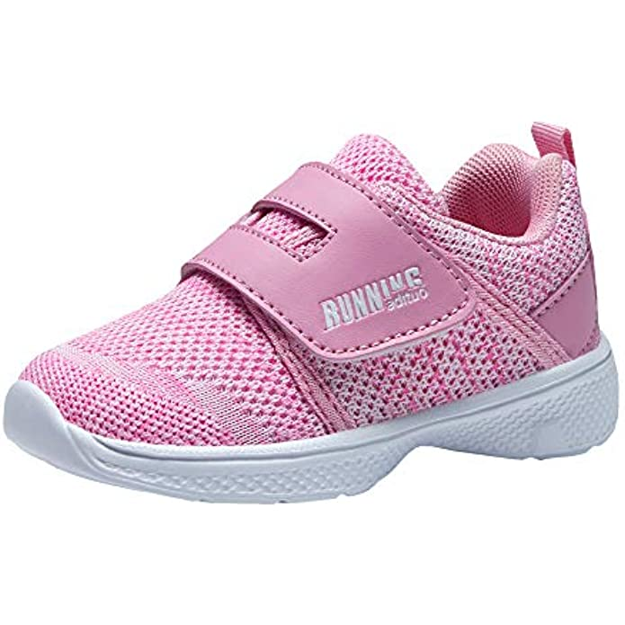 adituo Toddler/Little Kid Boys Girls Lightweight Breathable Strap Athletic Sneakers Running Walking Sports Shoes