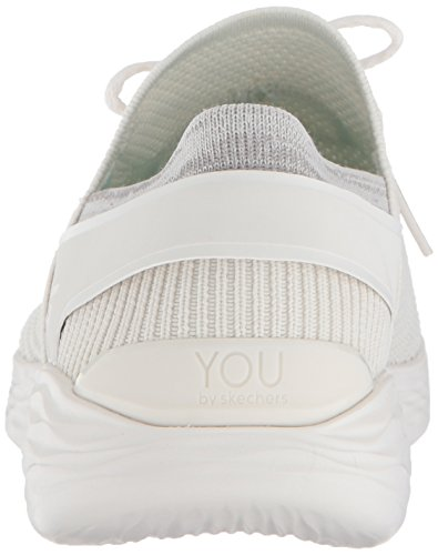 Skechers You-Spirit, Baskets Enfiler Femme Blanc (White)