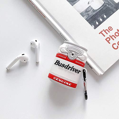 LEWOTE Airpods Carcasa de Silicona Compatible con Airpods de Apple 1 y 2 [Diseño de Frutas y Verduras][Niñas o Parejas] (Bow Avocado)