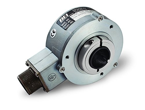 BEI Sensors 01070-552 HS35 Rotary Incremental Optical Encoder, XHS35F-100-R2-SS-5000-ABZC-28V/V-SM18, Heavy duty, hollow shaft, 3.5'' body diameter, 1'' shaft bore, 5000 ppr, with tether arm, 3.5'' by BEI SENSORS