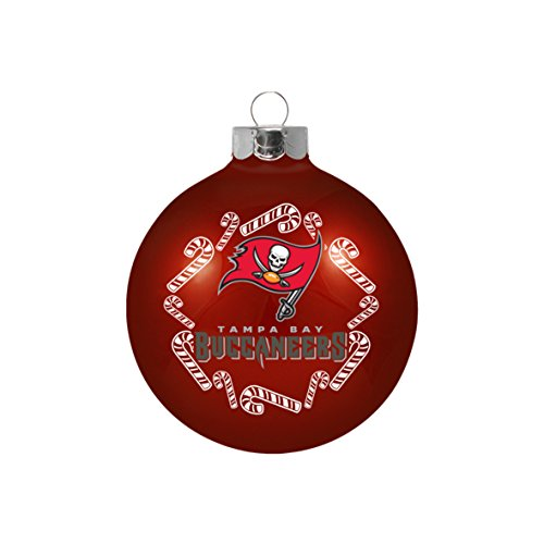 Buccaneers Glass Bay Ornaments Tampa (NFL Tampa Bay Buccaneers Small Ball Ornament)