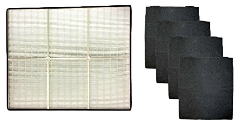 1 X Whirlpool 1183054K (1183054) HEPA Filter + 4 Pre-Carbon Filters-- Fits Whispure Air Purifier Models AP450 and AP510 AP45030HO; Replaces Whirlpool Part # 1183054, 1183054K, 1183054K Large, 1183054K Grand Format- Aftermarket Filter (Industrial Hepa Filter compare prices)