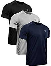 Neleus Men's 3 Pack Mesh Athletic Running Workout Shirts,5033,Black,Grey,Navy Blue,US XL,EU 2XL