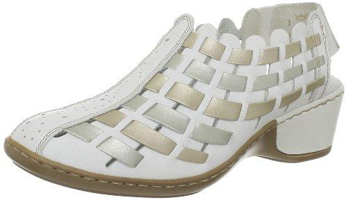 De Rieker oro Casa Para weiss silver Zapatillas Cuero Mujer Beige 4rrSO5wq7