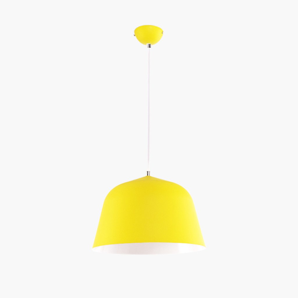 Post-modern minimalist color aluminum chandelier restaurant bar A+ ( Color : Yellow , Size : S )