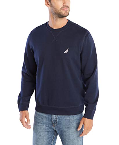 Nautica Men's Basic Crew Neck Fleece Sweatshirt