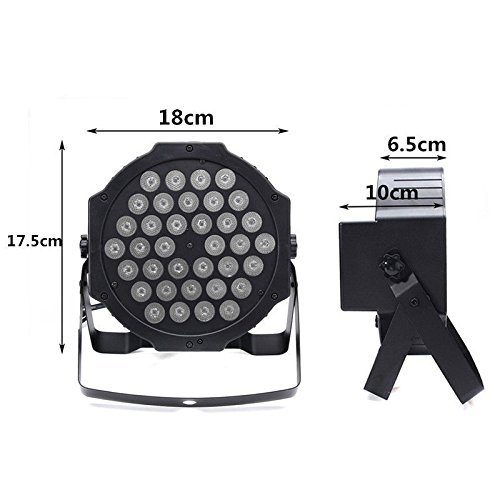 72W Black Light DJ Lights UV Blacklight Stage Spotlight 36 LEDs Auto Lighting Voice Control for Party Wedding Disco Club with Control by Deep Dream (Image #4)