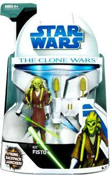 Star Wars Clone Wars Animated Action Figure No. 27 Kit Fisto (Wars Wars Kit Star Fisto Clone)