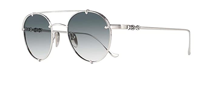 73875028d9f Amazon.com  Chrome Hearts - Oralgami - Sunglasses (Brushed Silver ...