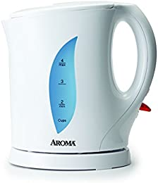 Aroma Housewares AWK-103 Electric Water Kettle, 1-Liter, White