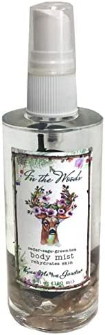 In the Woods Organic Body Mist without Alcohol Cedar Sage and Green Tea 4 fl oz