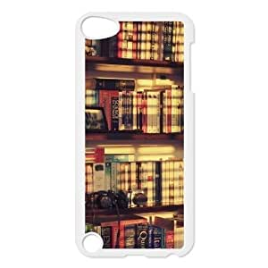 bookshelf style Design Discount Personalized Hard Case Cover for iPod Touch 5, bookshelf style iPod Touch 5 Cover