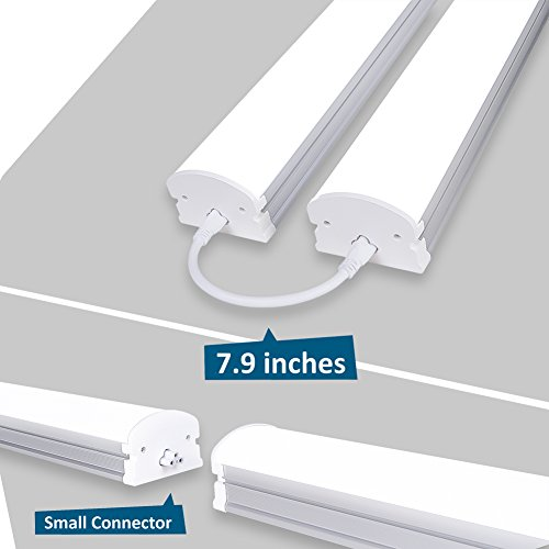 Pack-of-2-Barrina-4ft-45-Watt-Extendable-Utility-LED-Shop-Light-Workbench-Light-6500K-Super-Bright-White-4500lm-300W-Equivalent-Built-in-ONOFF-Switch-Frosted-Linear-LED-Light-Bar