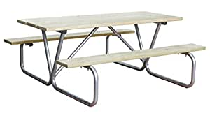 """72"""" Wooden Rectagular picnic table"""