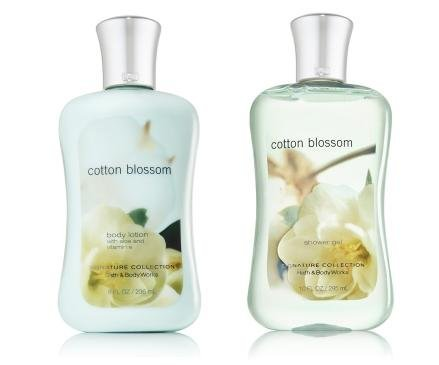 Bath & Body Works Cotton Blossom Shower Gel & Body Lotion Gift Set (Bath And Body Cotton Candy)