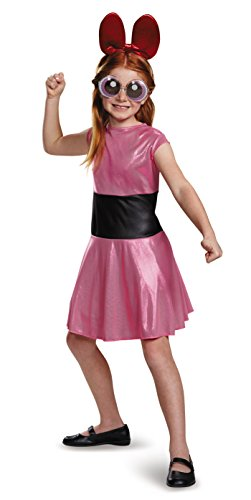 [Blossom Classic Powerpuff Girls Cartoon Network Costume, Large/10-12] (Powerpuff Girls Halloween Costumes)