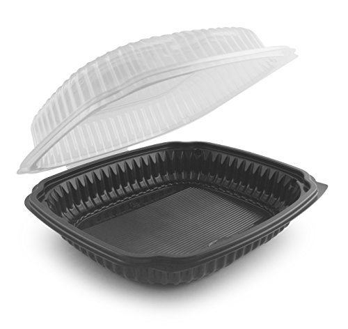 Culinary Classics Cc9911 Anchor Packaging  4659112 Hinged 9  X 9  No Fog Lid  Plastic  Black Clear  Pack Of 50