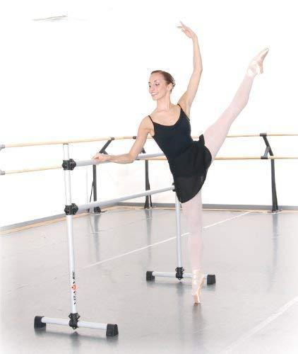 Vita Vibe BD48 Prodigy Series Portable Double Freestanding Ballet Barre, Stretch/Dance Bar, 4-Feet