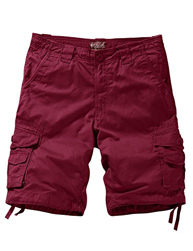 (Match Men's Twill Comfort Cargo Shorts Without Belt (Label Size 3XL/38 (US 36), 3088 Plum) )