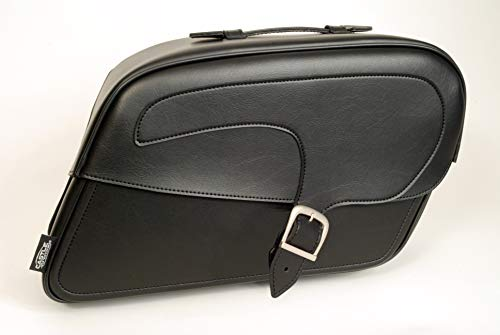 Castle Streetbags Large Kickback Motorcycle Saddlebags - Plain