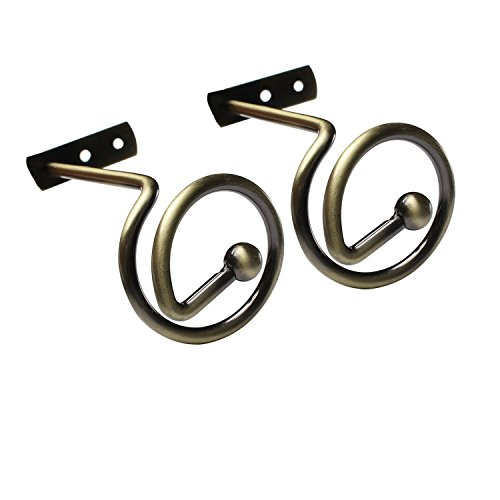 YING CHIC YYC 1Pair Unique L Shaped Drapery Holkbacks Simple Alloy Curtain Wall Hook