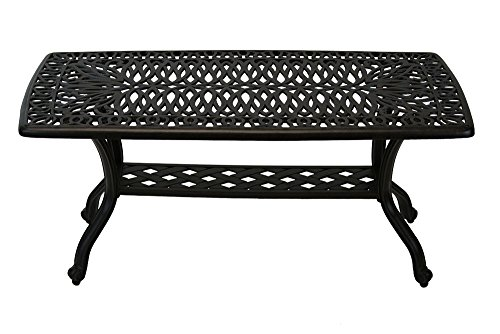 Cheap Heritage Outdoor Living Elisabeth Cast Aluminum Coffee Table – Antique Bronze