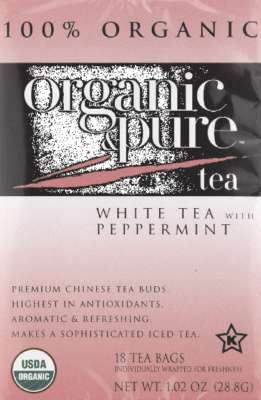 Organic & Pure Tea White Peppermint Organic, 18 - White Tea Organic Peppermint