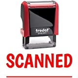 SCANNED Office Self-Inking Office Rubber Stamp (Red) - M