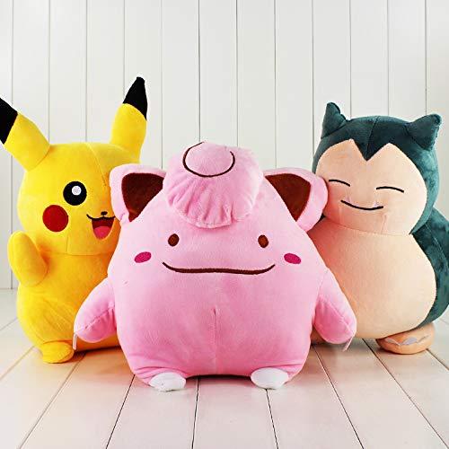 35-40cm (13.8-15.7 inch) - 1Pcs Big Size Clefairy Snorlax Plush Toy Stuffed Toys Dolls Children Gift (Snorlax) ()