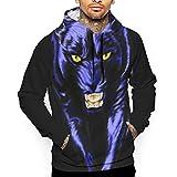 Carolina Panther Drawing Unisex Realistic 3D Printed Drawstring Pockets Pullover Hoodie Hooded Sweatshirt
