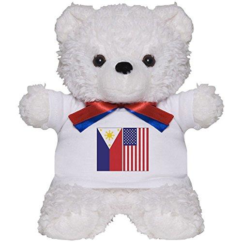 American Flag Teddy Bear T-shirt (CafePress - Philippine & US Flags - Teddy Bear, Plush Stuffed Animal)