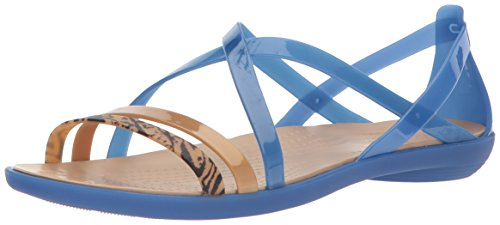crocs Isabella Graphic Strappy Sandal Blau Jean/Gold Croslite