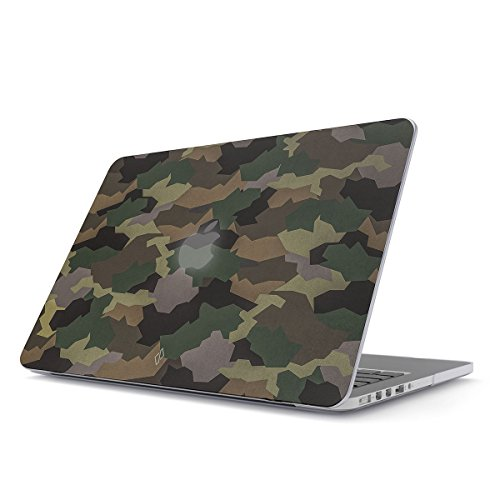BURGA Hard Case Cover Compatible with MacBook Pro 13 Inch Case Release 2012-2015, Model: A1502 / A1425 Retina Display NO CD-ROM Tropical Army Camouflage