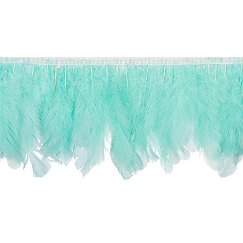 Handmade Goose Duck Feather Trim Fringe (Mint Green) ()