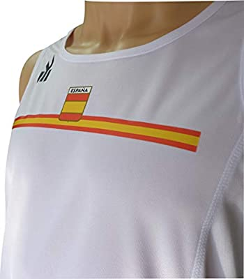 EKEKO SPORT Camiseta ESPAÑA Tirantes, para Running Color Blanco (L): Amazon.es: Deportes y aire libre