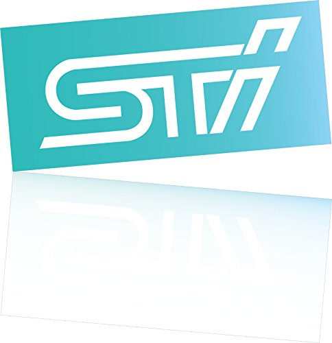 Vinyl sticker STI 10x4 cm logo for car laptop phone Subaru IMPREZA WRX WRC VINYL DECAL Die Cut No background (white)