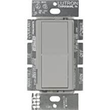 Lutron CA-1PS-GR Diva 15 A Single Pole Switch, Gray
