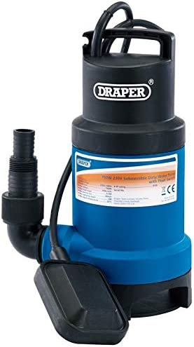 Draper 61667 Submersible Sub Dirty Water Pump Float Switch /& Flat Hose /& Clamp