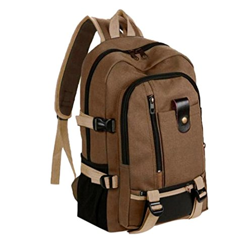 Travel Backpack Daypack,Realdo Canvas Fashion Simple Double-Shoulder Great Storage Schoolbag Hot]()