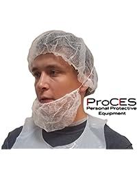 "Disposable White Hairnet - 100 Pack - Bouffant Cap - Polypropylene - 21"" -"