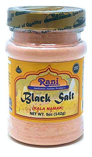 Rani Black Salt (Kala Namak) Powder, Vegan 5oz (142g) Unrefined, Pure and Natural | Gluten Free Ingredients | NON-GMO | Indian Origin