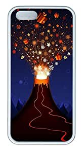 iPhone 5S Case, iPhone 5S Cases -Christmas Cartoon Volcano TPU Rubber Soft Case Back Cover for iPhone 5/5S ¨C White