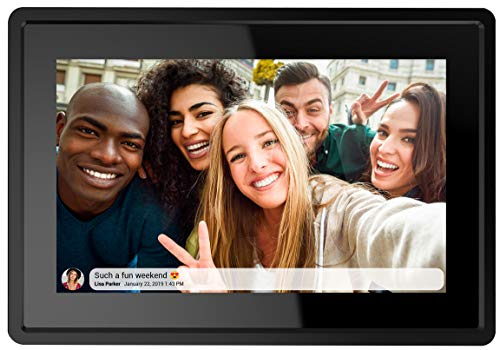 Feelcare 7 Inch 16GB Smart WiFi Digital Picture Frame, Send Photos or Small Videos from Anywhere, Touch Screen, IPS LCD Panel, Wall-Mountable, Portrait and Landscape(Black)