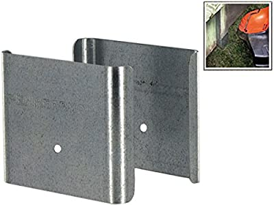 "Fence Armor for Wood Fences - 4""x4"" (fits 3.5""x3.5"" posts) - Galvanized - Demi-Faceplate - 10 Pack"
